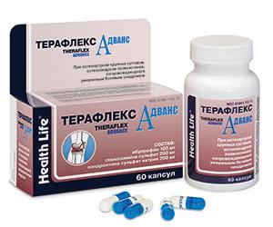 Взаимодействие Терафлекс Адванс с другими препаратами