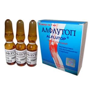 Эффективное действие алфлутопа в уколах