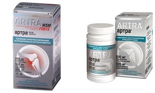 Применение таблеток Артра при остеохондрозе