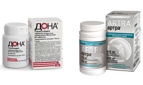 Чтобы восстановить упругость хрящевых тканей, врачи назначают Артру или Дона