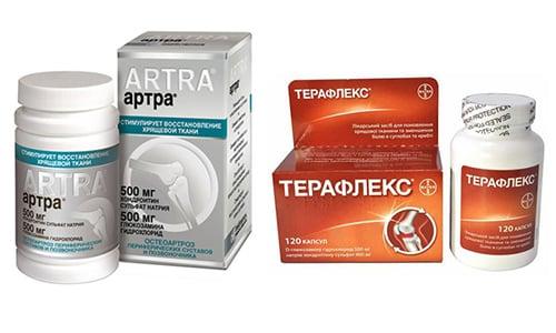 Артра и Терафлекс принадлежат к одной фармакологической группе хондропротекторов