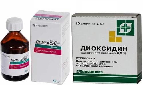Диоксидин и Димексид применяют для лечения тяжелых повреждений кожи